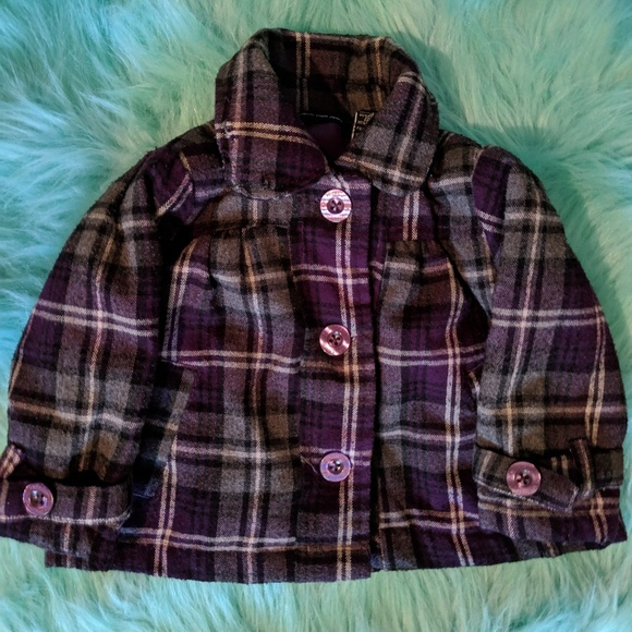Calvin Klein Other - 🍼Baby Girl CK Plaid Peacoat